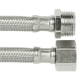 150mm X 15mm M x F BSP Water Hose Extensions Stainless Pex Core Burst Proof (Pair)