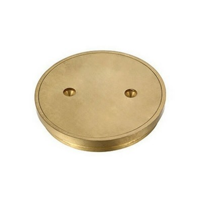 100mm Floor Clean Out Brass Round Suit Pvc