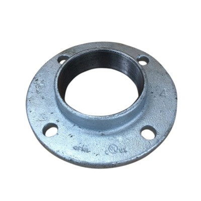 100mm Galvanised Flange Round Drilled