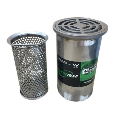 100mm Round Floor Waste With Bucket Trap Stainless Steel 304 FW-100BRL