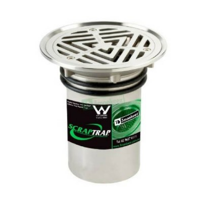 100mm Vinyl Floor Waste With Strainer Basket Stainless Steel 304 FW-100VRBT