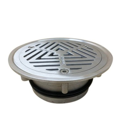 100mm Vinyl Floor Waste Grate Stainless Steel 316