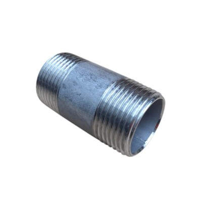"10mm 3/8"" Barrel Nipple BSP Stainless Steel 316 150lb"