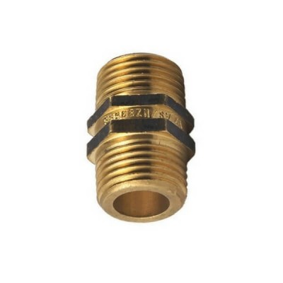 "10mm 3/8"" Brass Hex Nipple"