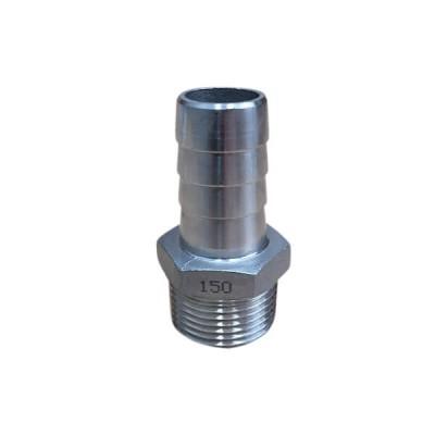 "10mm 3/8"" Hose Nipple BSP Stainless Steel 316 150lb"