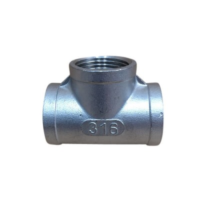 "10mm 3/8"" Tee BSP Stainless Steel 316 150lb"