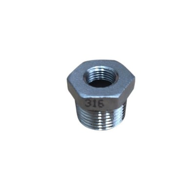 10mm X 6mm Bush Reducing BSP Stainless Steel 316 150lb