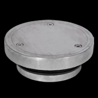 130mm Vinyl Floor Round Clear Out 316 Stainless Steel FW-130VCO-316