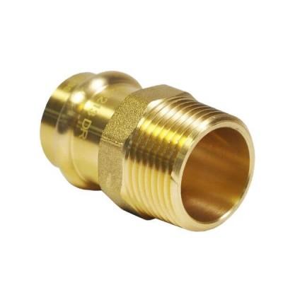 """15mm 1/2"""" X 1/2"""" Male BSP Adaptor Water Copper Press"""