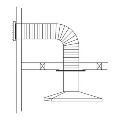 150mm Abey Rangehood Flue Kit Horizontal RHH6