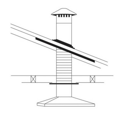 150mm Abey Rangehood Flue Kit Suit Steel Roof RHVS6