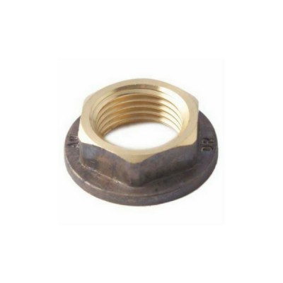 15mm Brass Lock Nut Flanged
