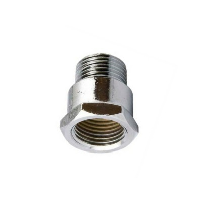 15mm Brass Socket Chrome M&F