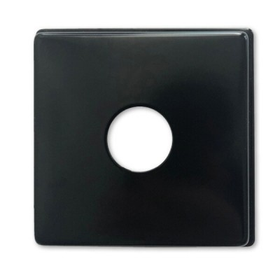 "15mm 1/2"" BSP X 10mm Rise Cover Plate Matt Black Metal Square"
