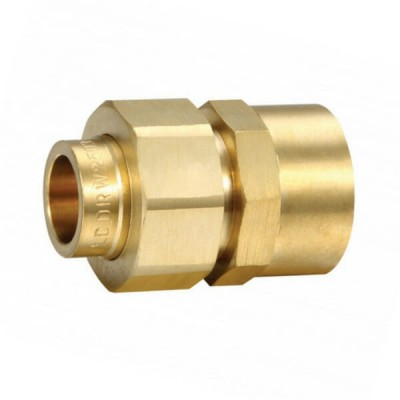 "15mm 1/2"" Female BSP X Capillary CU Brass Barrel Union"