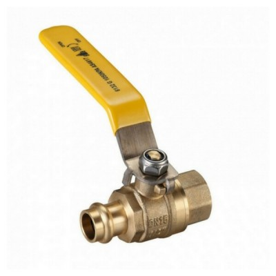 15mm Female X Press Crimp Ball Valve Gas Lever