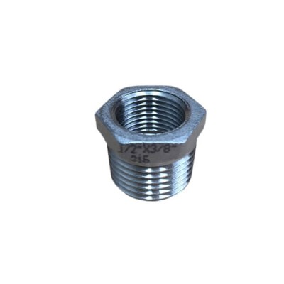 "15mm 1/2"" X 10mm Bush Reducing BSP Stainless Steel 316 150lb"