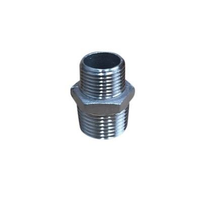 "15mm 1/2"" X 10mm Hex Nipple BSP Stainless Steel 316 150lb"
