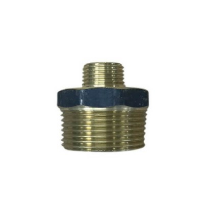 "15mm 1/2"" X 6mm 1/4"" Brass Hex Nipple BSP"