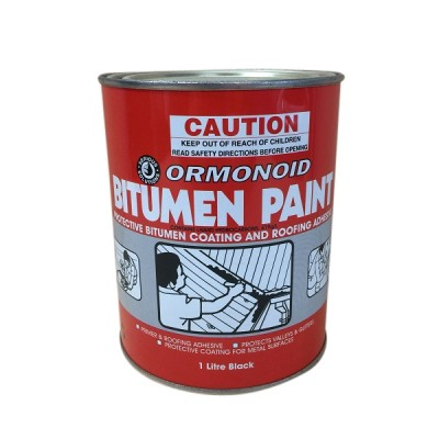 1 Litre Ormonoid Brushable Bitumen Paint Black