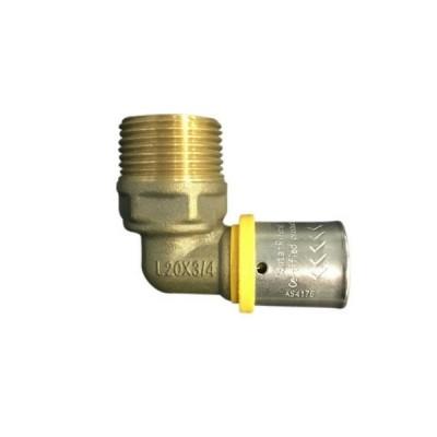 20 X 20Mi Elbow Male Gas Water Pex