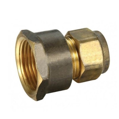 "20mm Female BSP X 15C 1/2"" Copper Olive Union Compression"