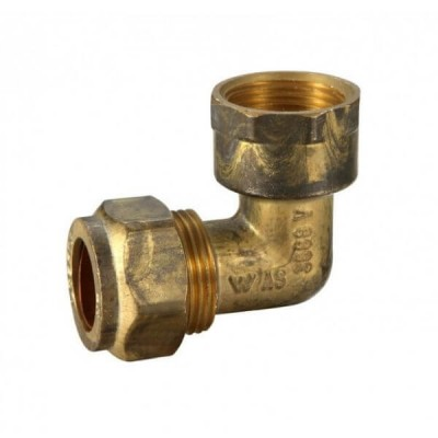 20mm Female BSP X 20C Copper Olive Elbow Compression