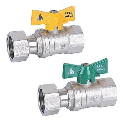 20mm Female Swivel Nut Ball Valve Kit Gas & Water