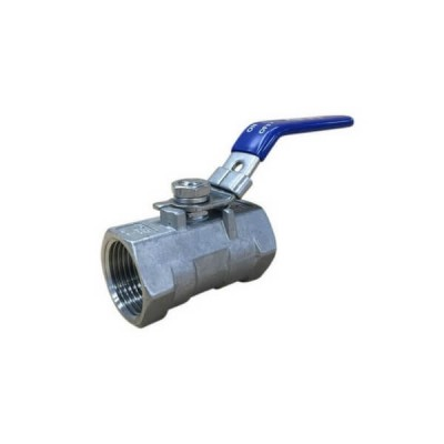 20mm Lever Ball Valve 316 Stainless Steel 1 Piece F&F