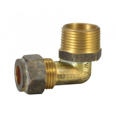 "20mm Male BSP X 15C 1/2"" Copper Olive Elbow Compression"