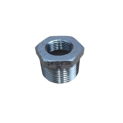 "20mm X 10mm 3/8"" Bush Reducing BSP Stainless Steel 316 150lb"
