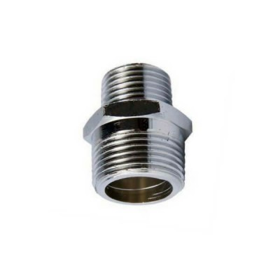 "20mm X 15mm 1/2"" Brass Hex Nipple BSP Chrome"