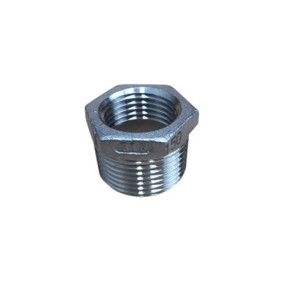 "20mm X 15mm 1/2"" Bush Reducing BSP Stainless Steel 316 150lb"