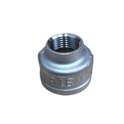 "20mm X 15mm 1/2"" Socket Reducing BSP Stainless Steel 316 150lb"