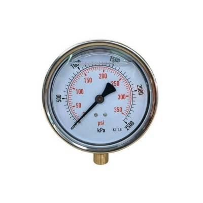 2500 Kpa 100mm X 10mm Liquid Pressure Gauge