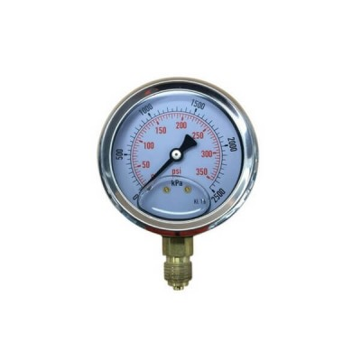 2500 Kpa 63mm X 6mm Liquid Pressure Gauge