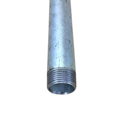 25mm X 450mm Pipe Piece Galvanised Mal BSP