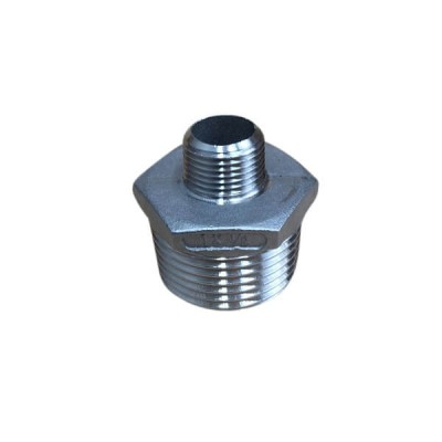 "25mm X 10mm 3/8"" Hex Nipple BSP Stainless Steel 316 150lb"