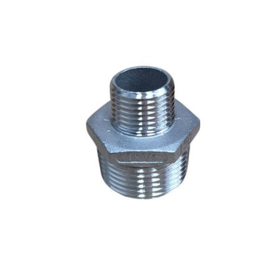 "25mm X 15mm 1/2"" Hex Nipple BSP Stainless Steel 316 150lb"