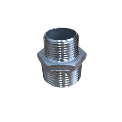 25mm X 20mm Hex Nipple BSP Stainless Steel 316 150lb