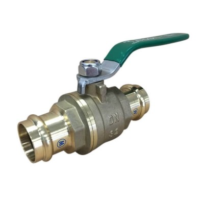 32mm Copper Press Crimp Lever Ball Valve Water Approved