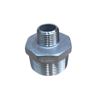 "32mm X 15mm 1/2"" Hex Nipple BSP Stainless Steel 316 150lb"