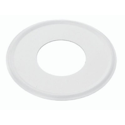 40mm Flat Cover Plate White Metal Suit PVC DWV