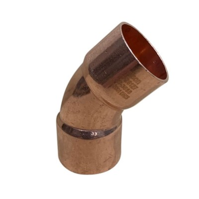 25mm X 45 Deg Copper Capillary Elbow