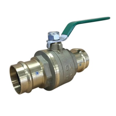 50mm Copper Press Crimp Lever Ball Valve Water Approved