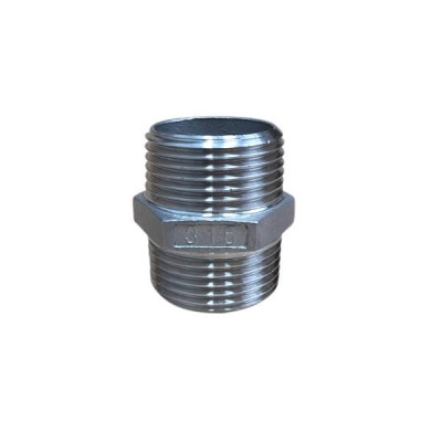 50mm Hex Nipple BSP Stainless Steel 316 150lb