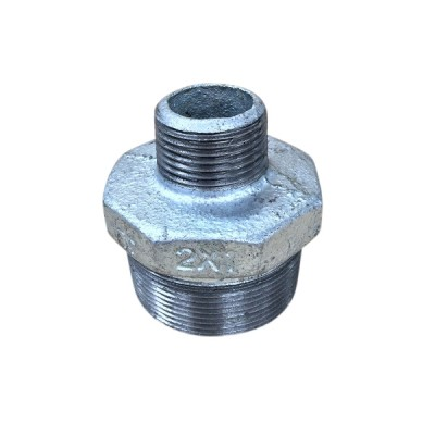 50mm X 25mm Galvanised Hex Nipple Reducing