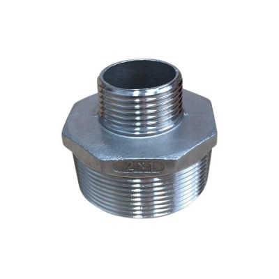 50mm X 25mm Hex Nipple BSP Stainless Steel 316 150lb
