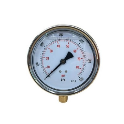 600 Kpa 100mm X 10mm Liquid Pressure Gauge