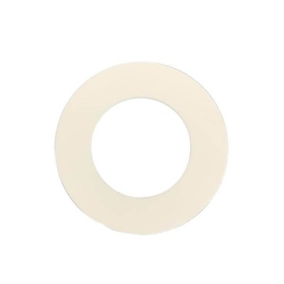 65mm Round Flat PVC Cover Plate White Suit DWV